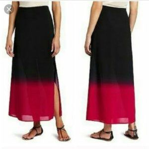 Vince Camuto Black/Pink Ombre Maxi Skirt
